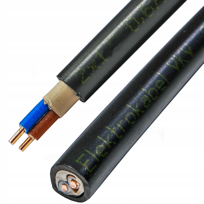 kabel przewód YKY 2x1 mm ziemny UV zewnętrzny 25m