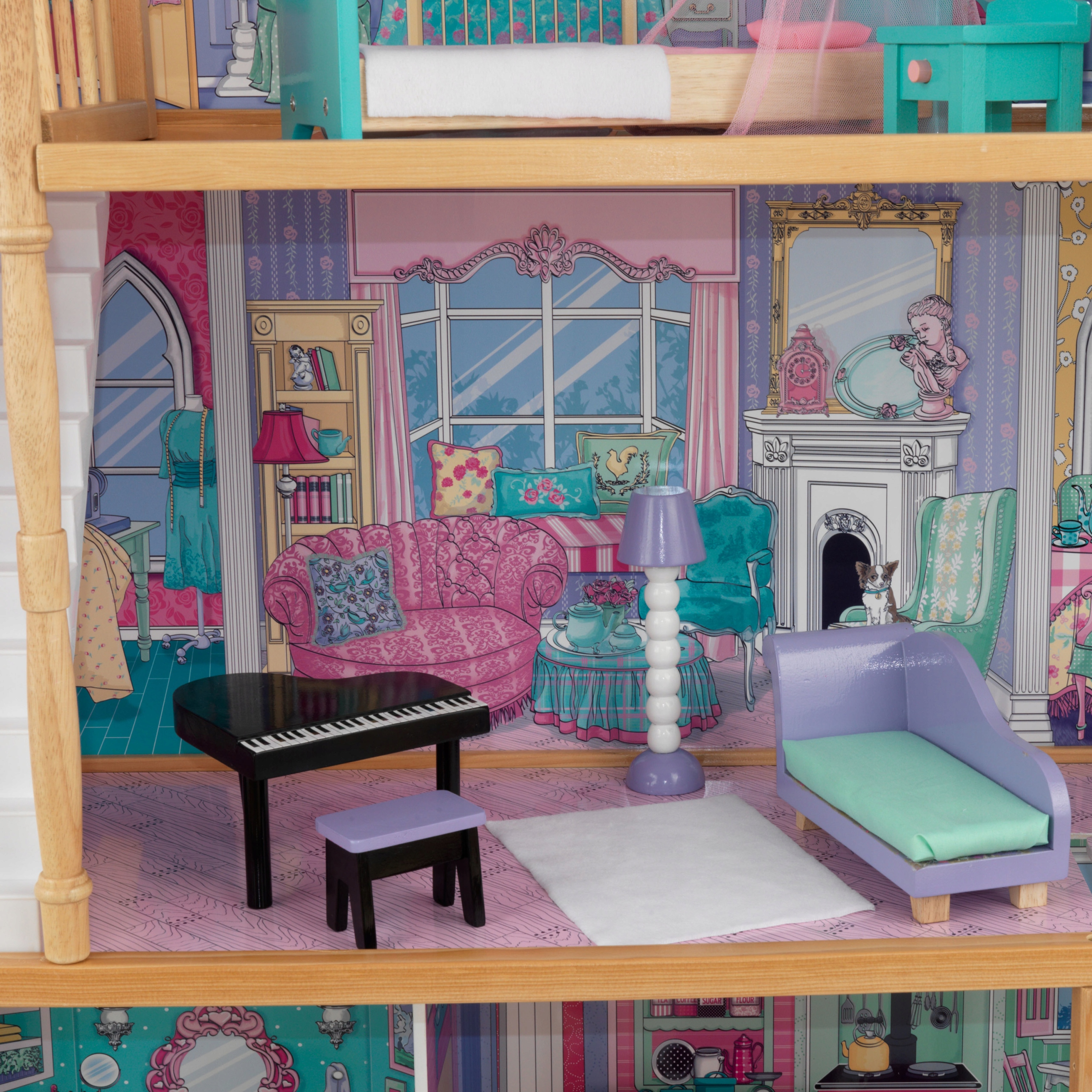 все картинки дома для кукол внутри получилось такое красивое