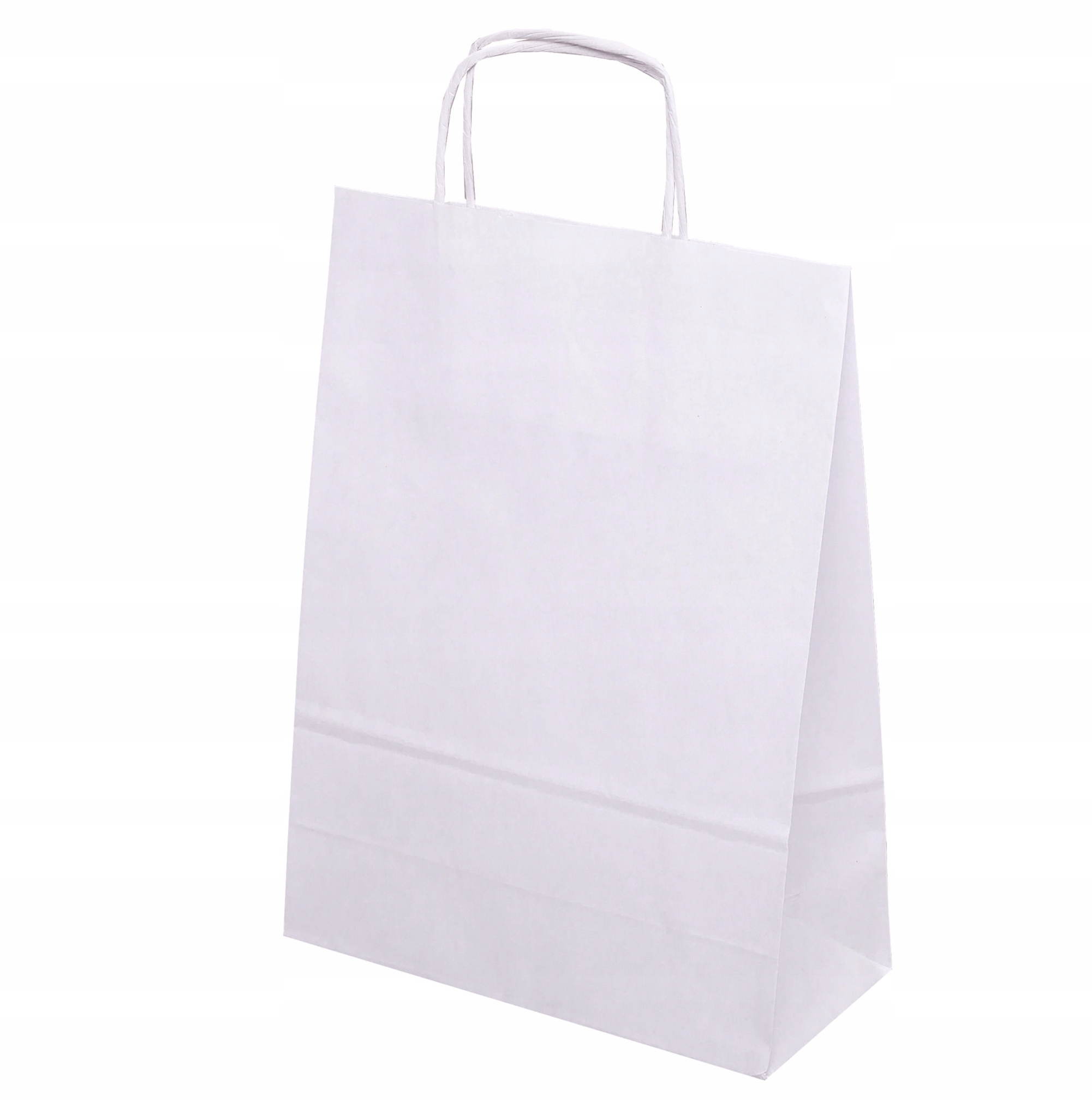 Item Handbag PAPER 24x10x32 cm WHITE 50 PCs