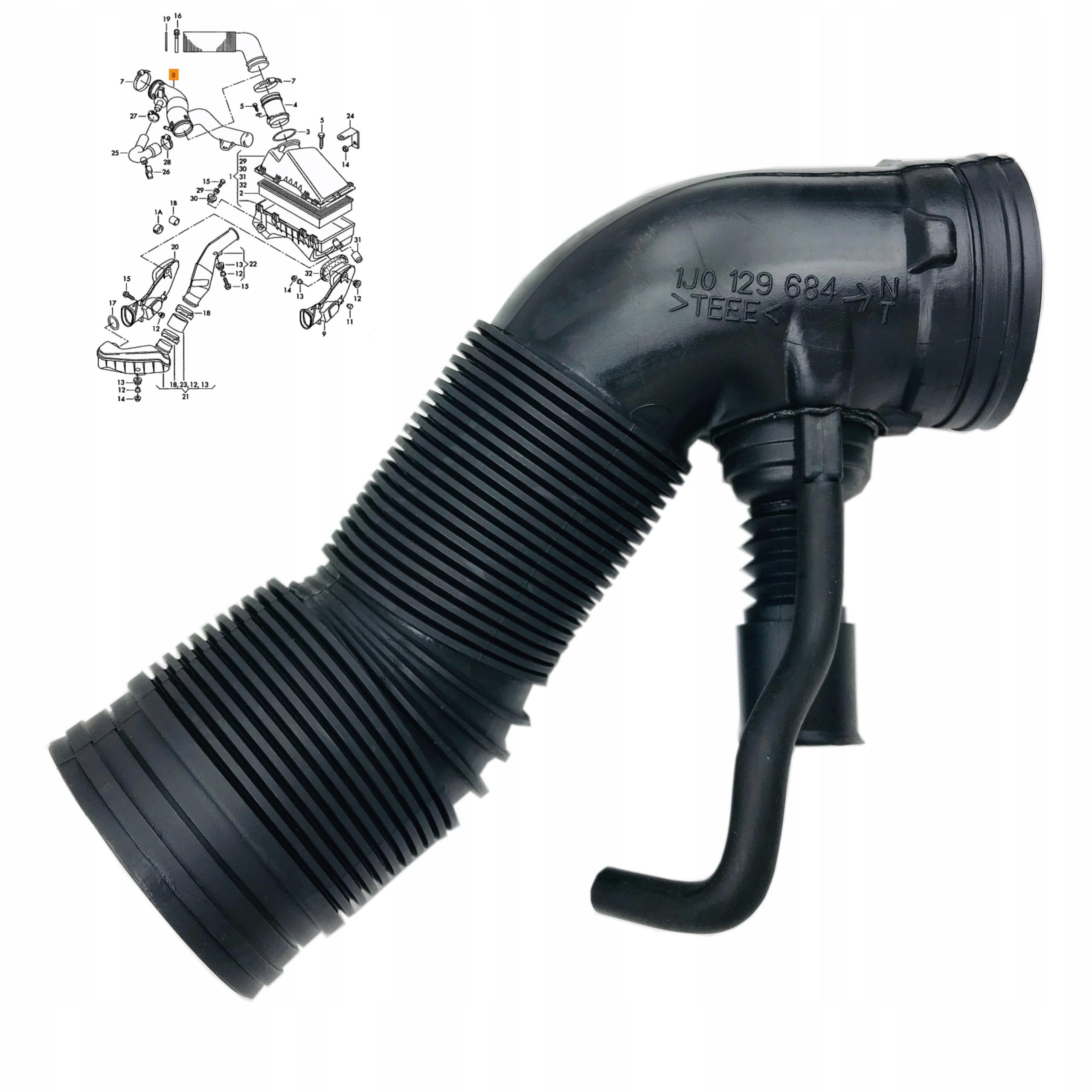 кабель труба фильтра воздуха seat skoda vw 16