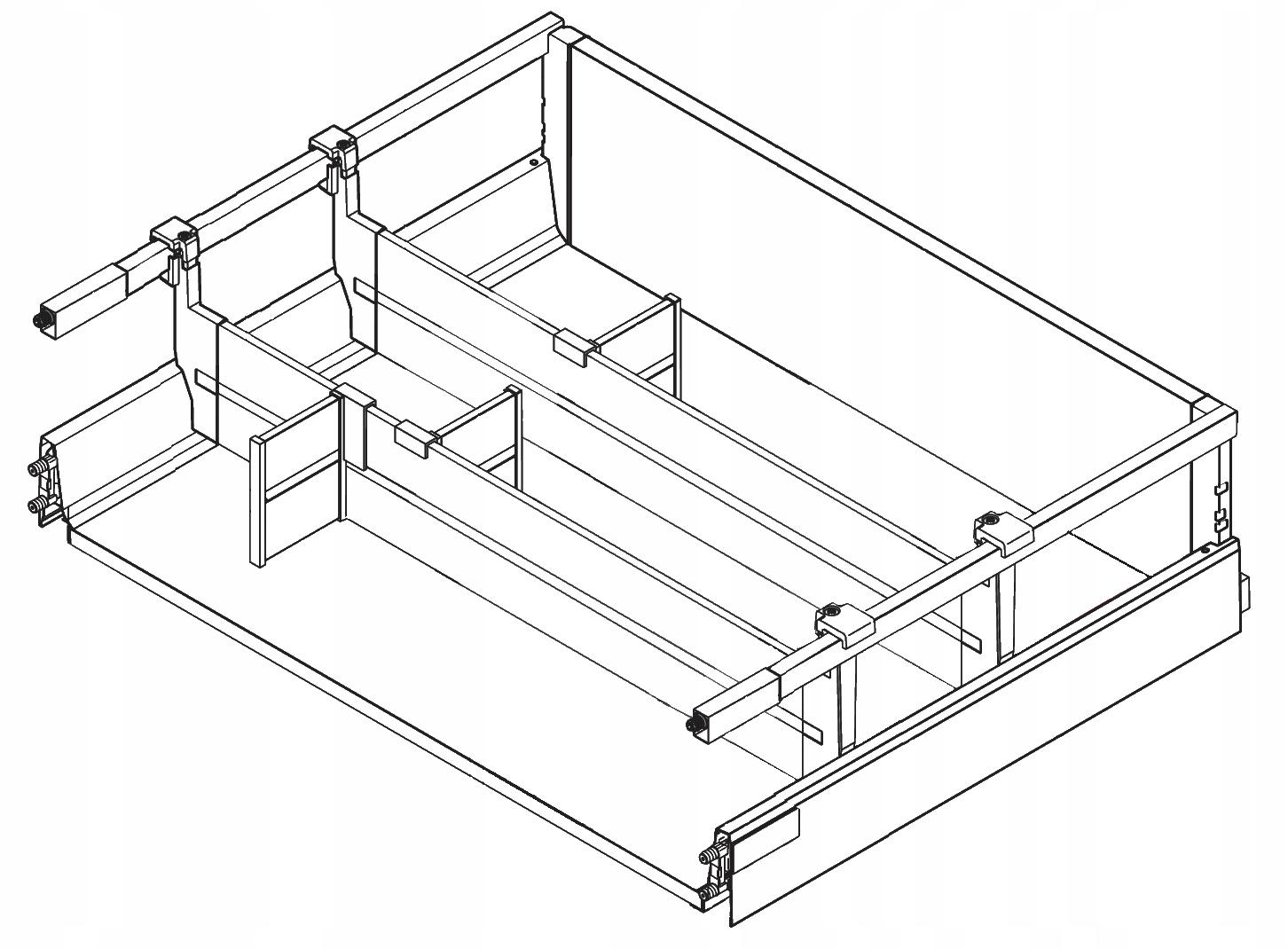 BLUM ANTARO Organizér do zásuviek 30-60cm 2L biela