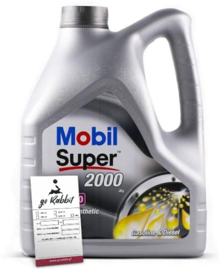 масла mobil super 2000 x1 10w40 4l