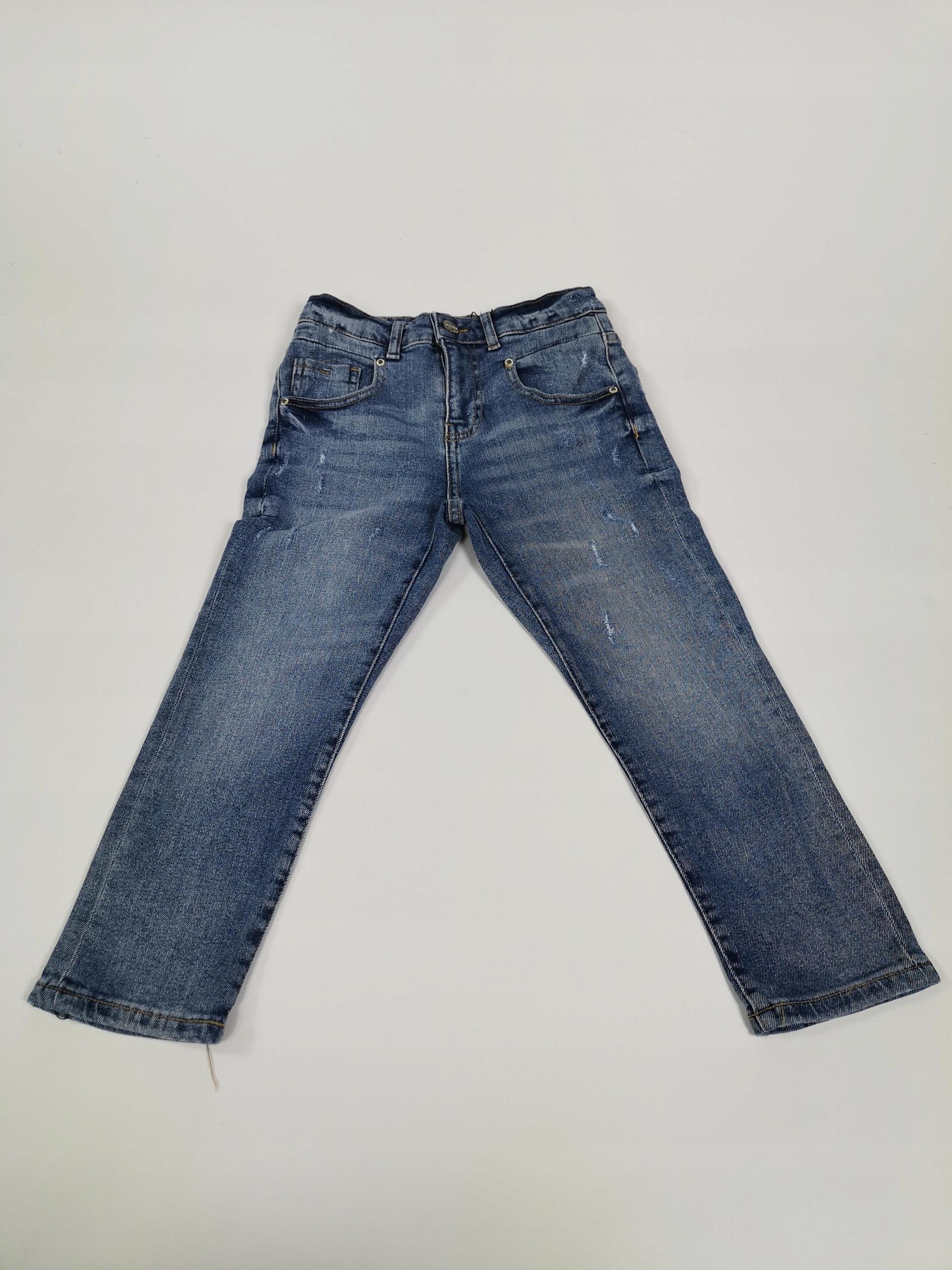G180 Nohavice-Jeans denim ZARA Deti 128, 8 rokov