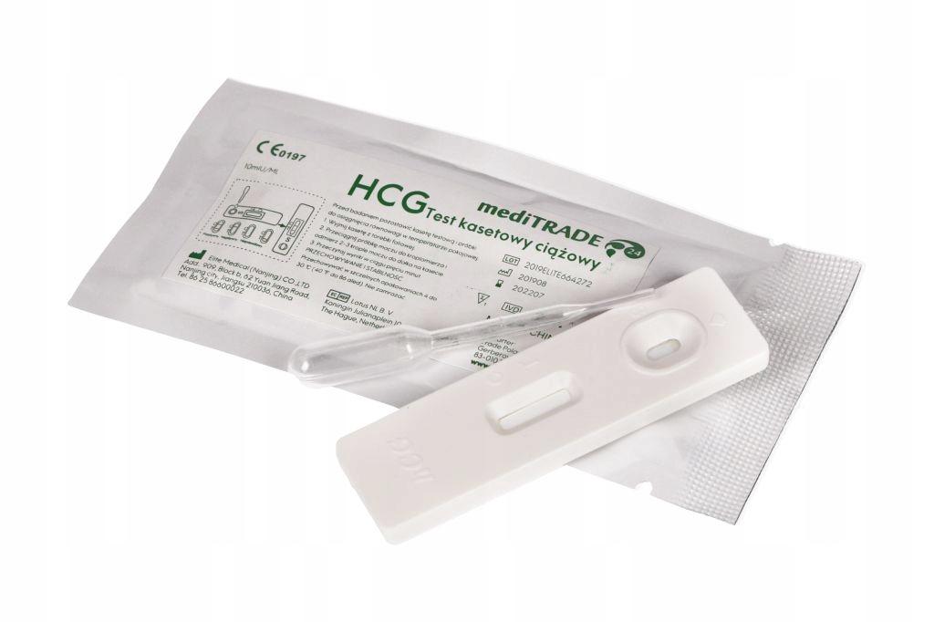 016 Test ciążowy kasetowy ciążowe płytkowe 10miU
