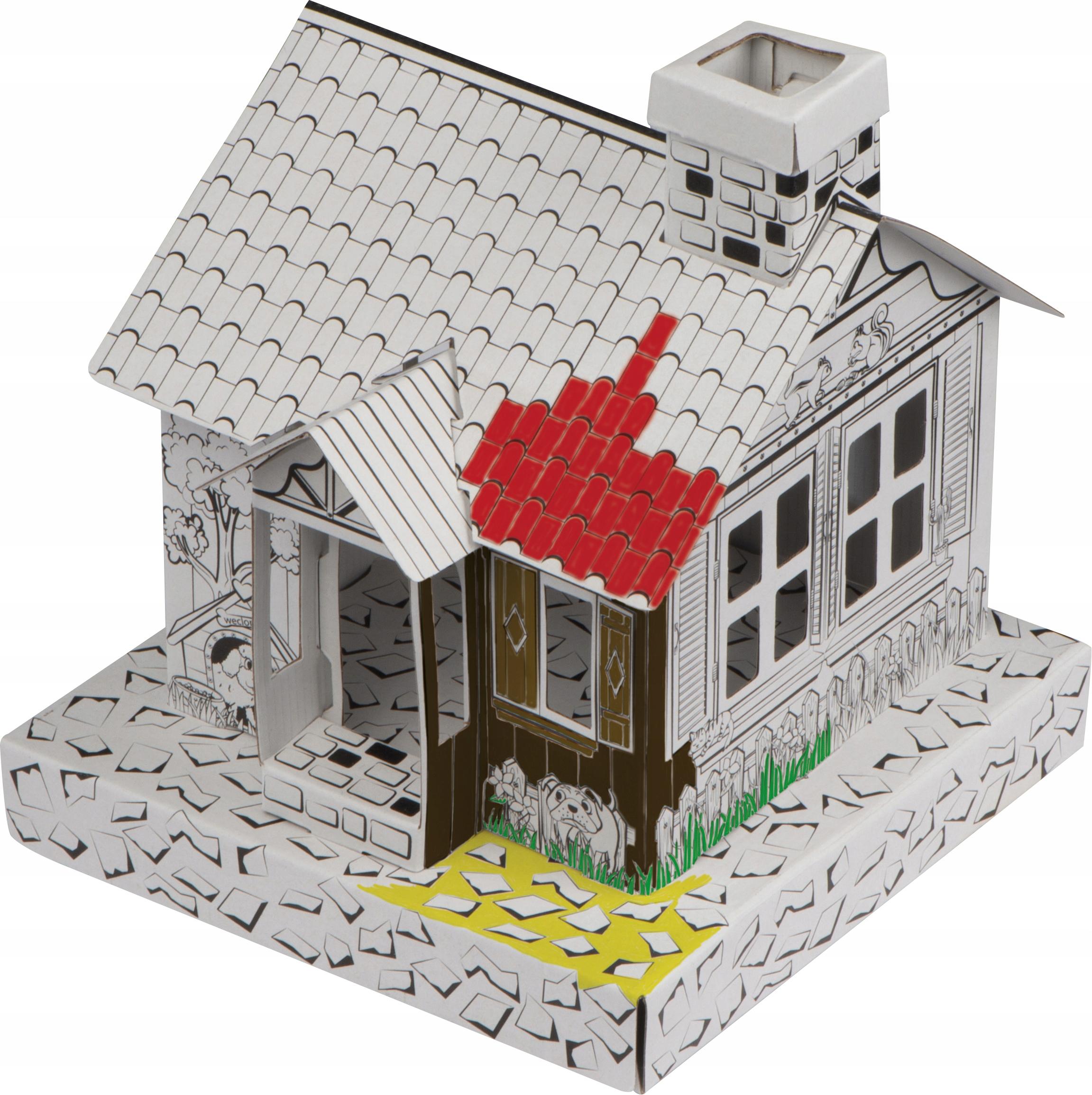 Kartonowy domek DO MALOWANIA składania kreatywny