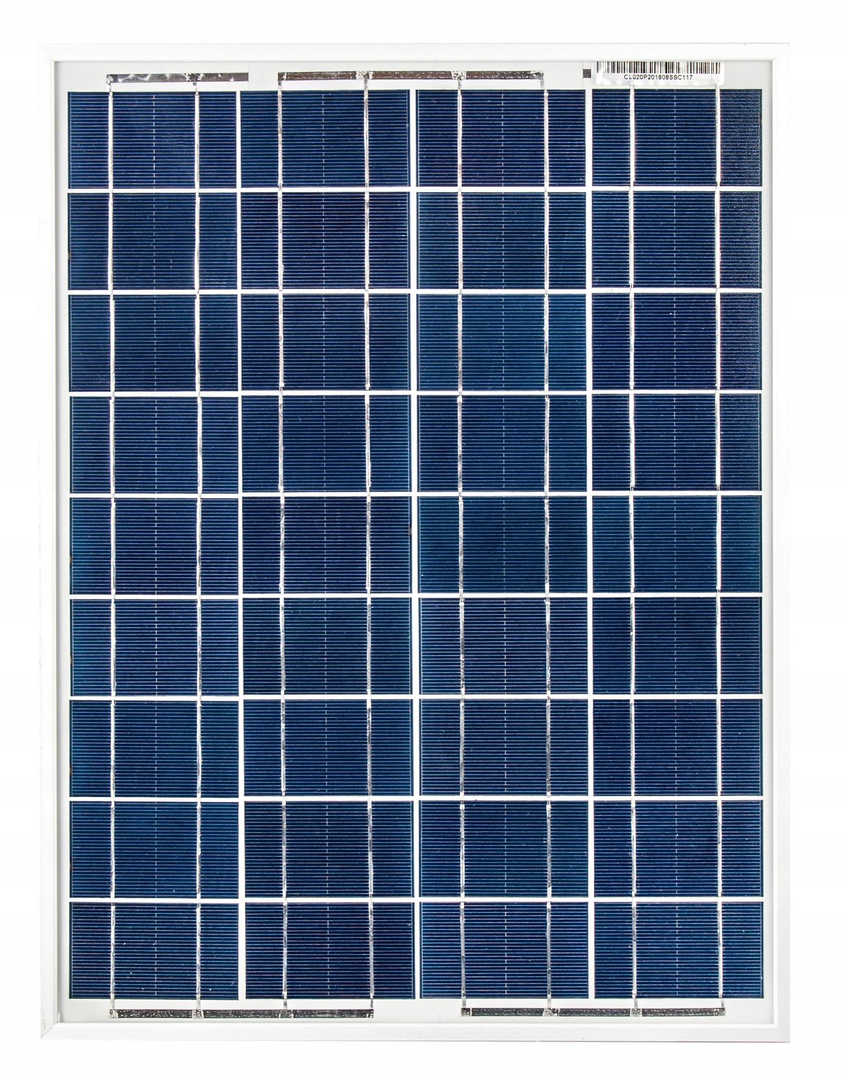 Solárna panelová batéria 20W 12V SOLAR POLI