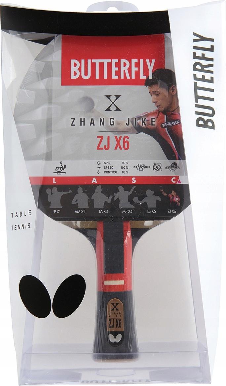 Rakietka Butterfly Zhang Jike ZJX6 i 6 piłeczek