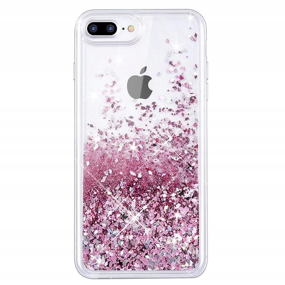 Item CASE WITH GLITTER FOR IPHONE 7 PLUS CASE 8 LIQUID + GLASS