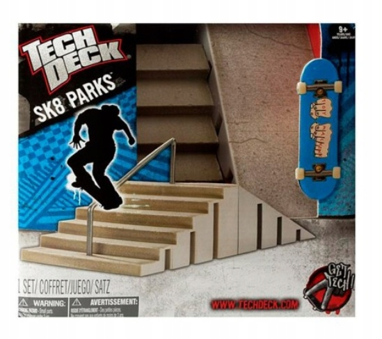 Tech Palubné skate Park Ramp Schody + Písaný ORIGINAL