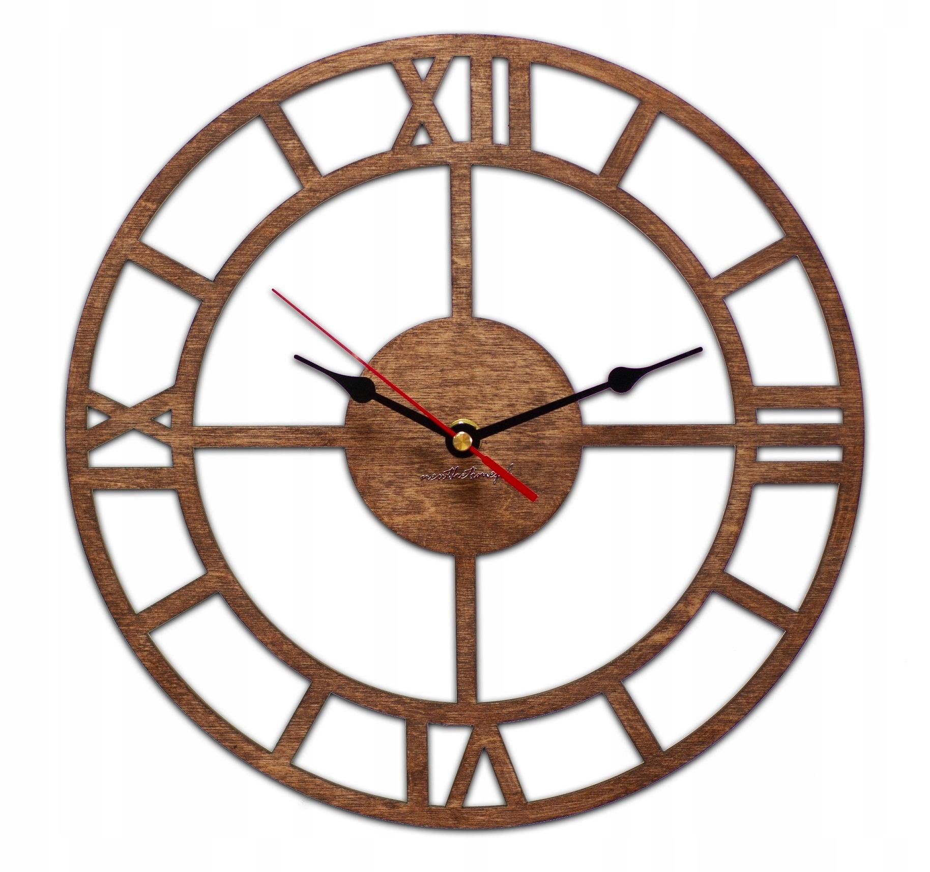 Rzymski zegar ścienny Vintage cichy 30 cm ZW172