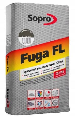 SOPRO FLO-FLEXIBLE, ŠIROKROČNÉ FUGUE, ATRACITE, 25 kg