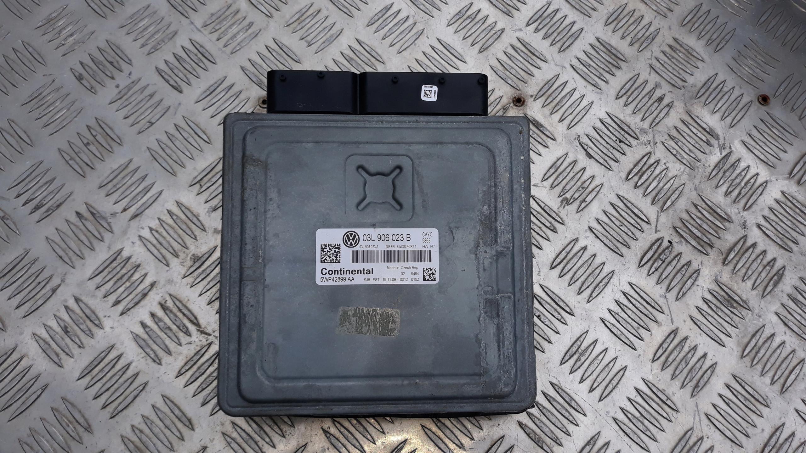 гольф vi 1 6 tdi компьютер двигателя 03l906023b