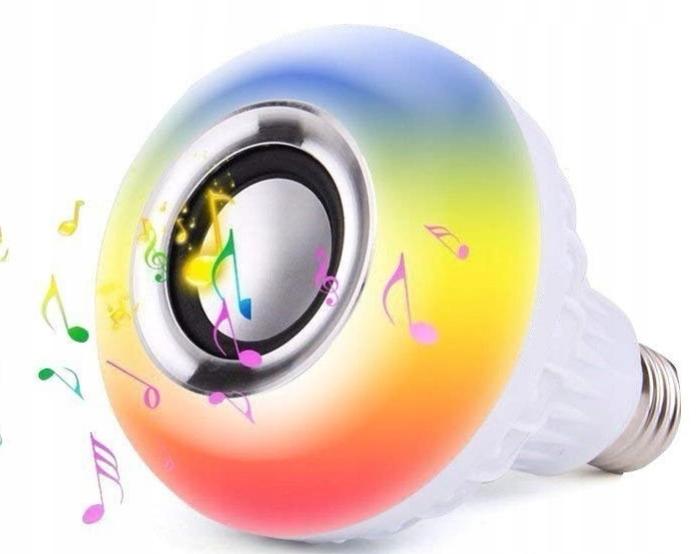 SPEAKER BLUETOOTH BULB E27 LED RGB DISCO пульт дистанционного управления