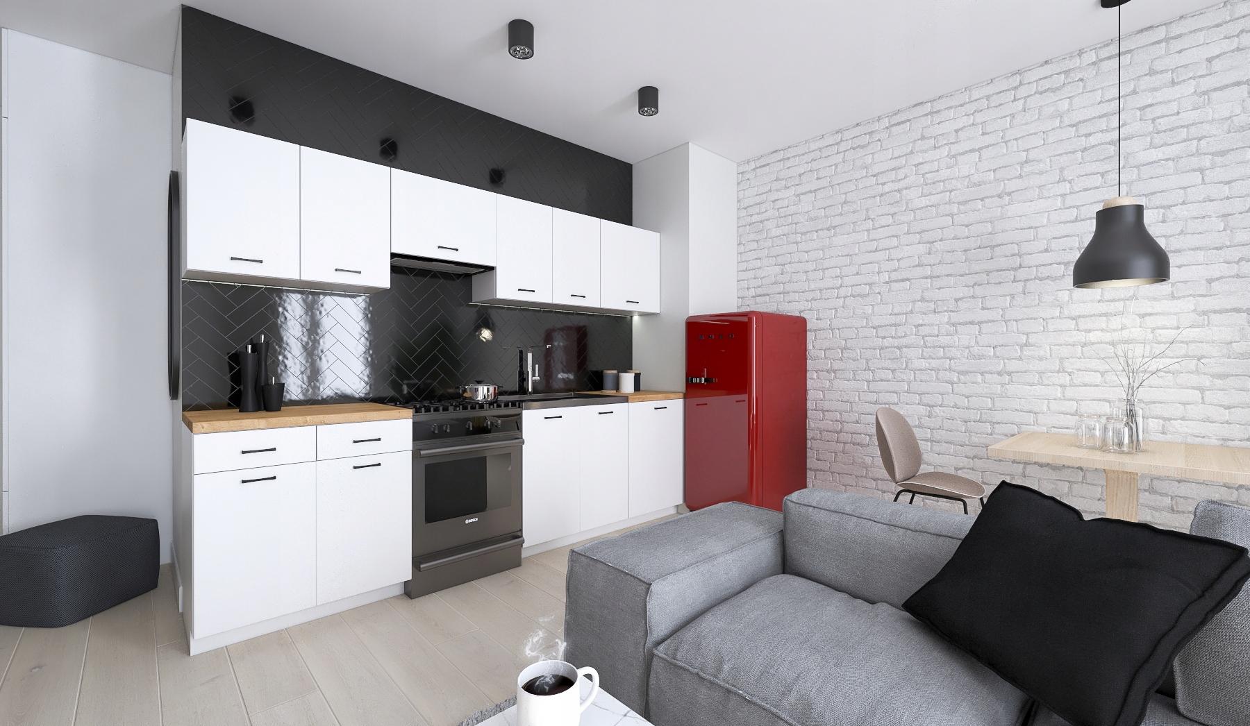 Кухонная мебель AGATA 2,4 м с БЕЛОЙ столешницей