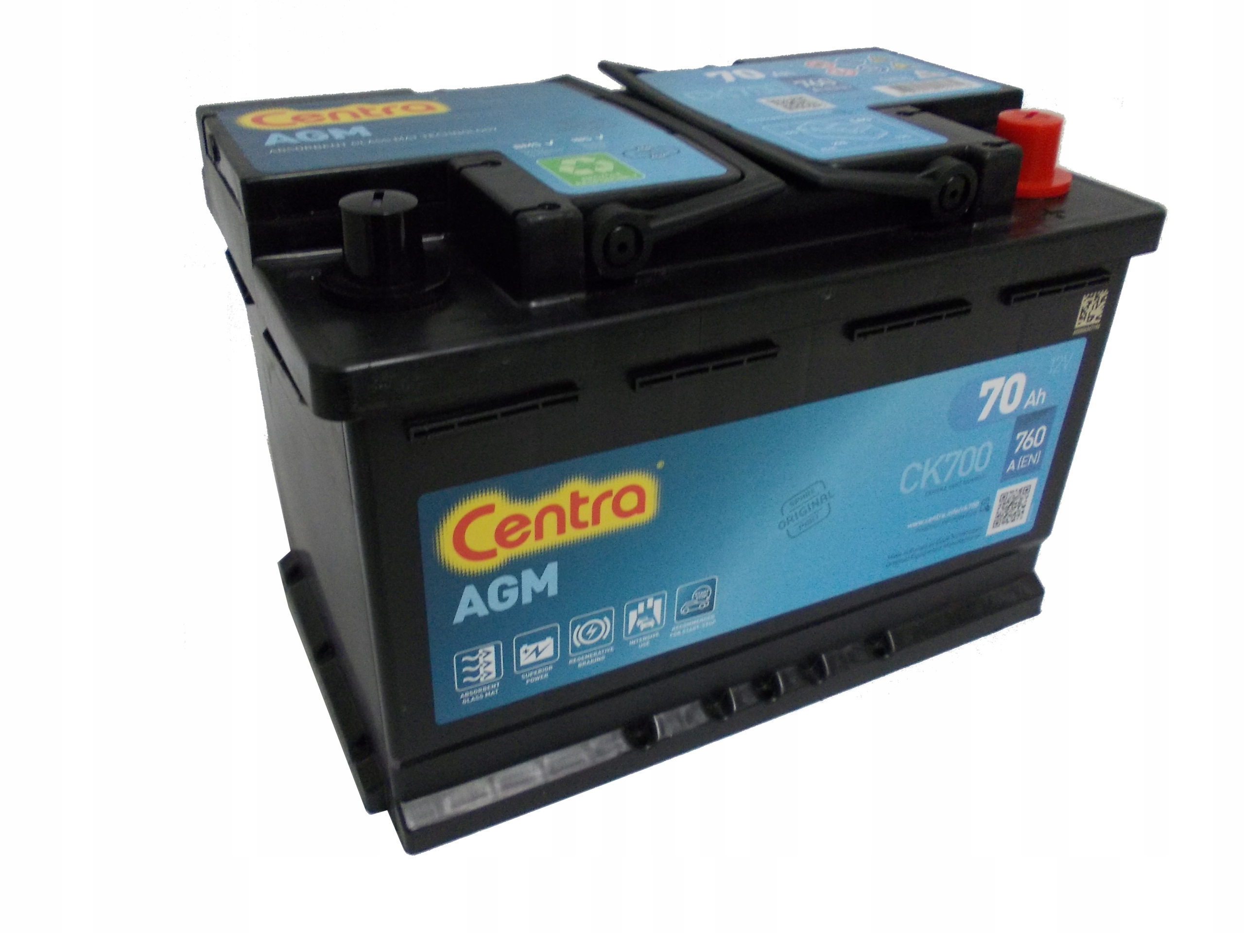 аккумулятор центры пуск стоп ck700 70ah 760a p+
