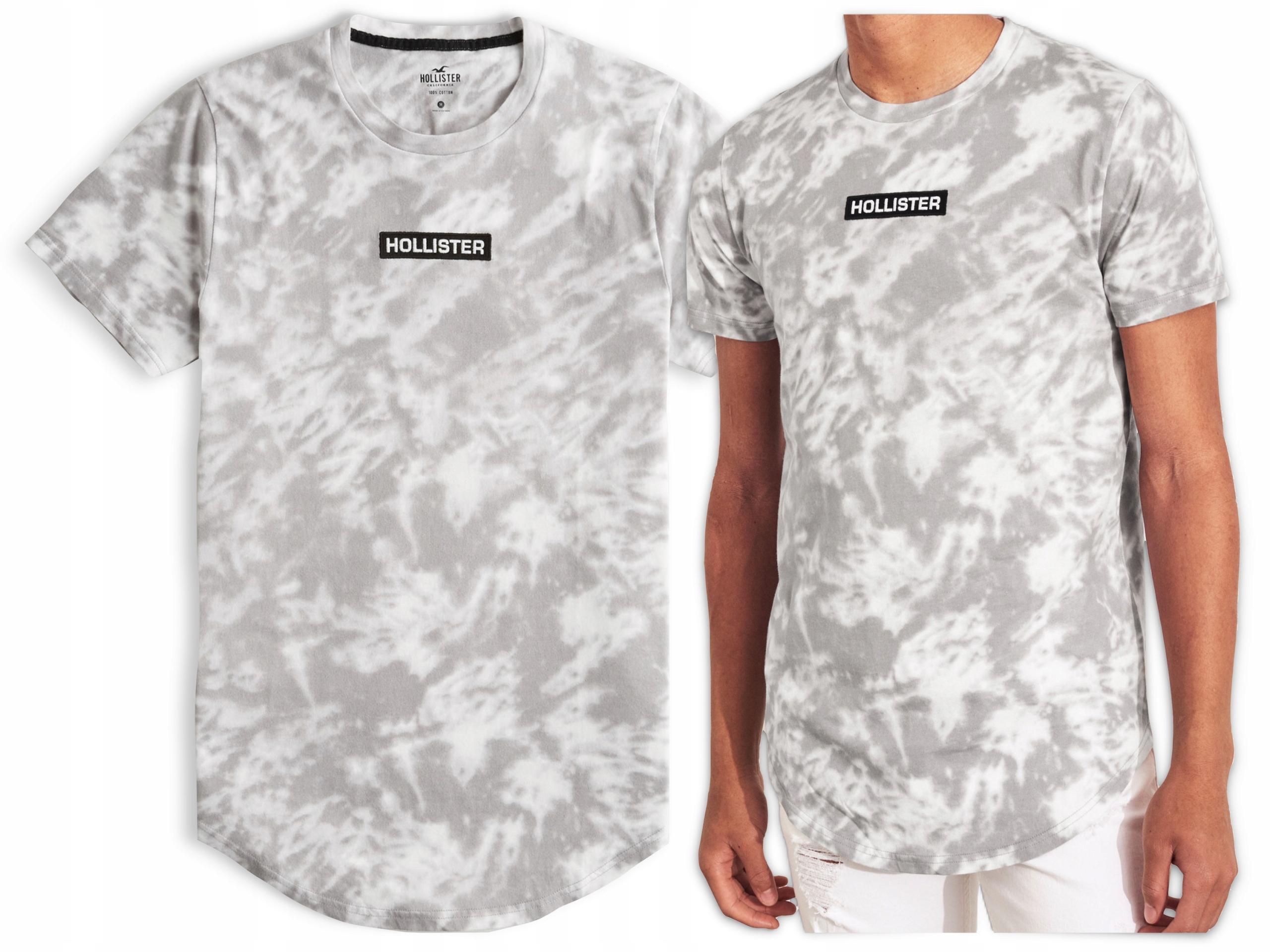 Koszulka Męska HOLLISTER Bawełna Logo T SHIRT XL