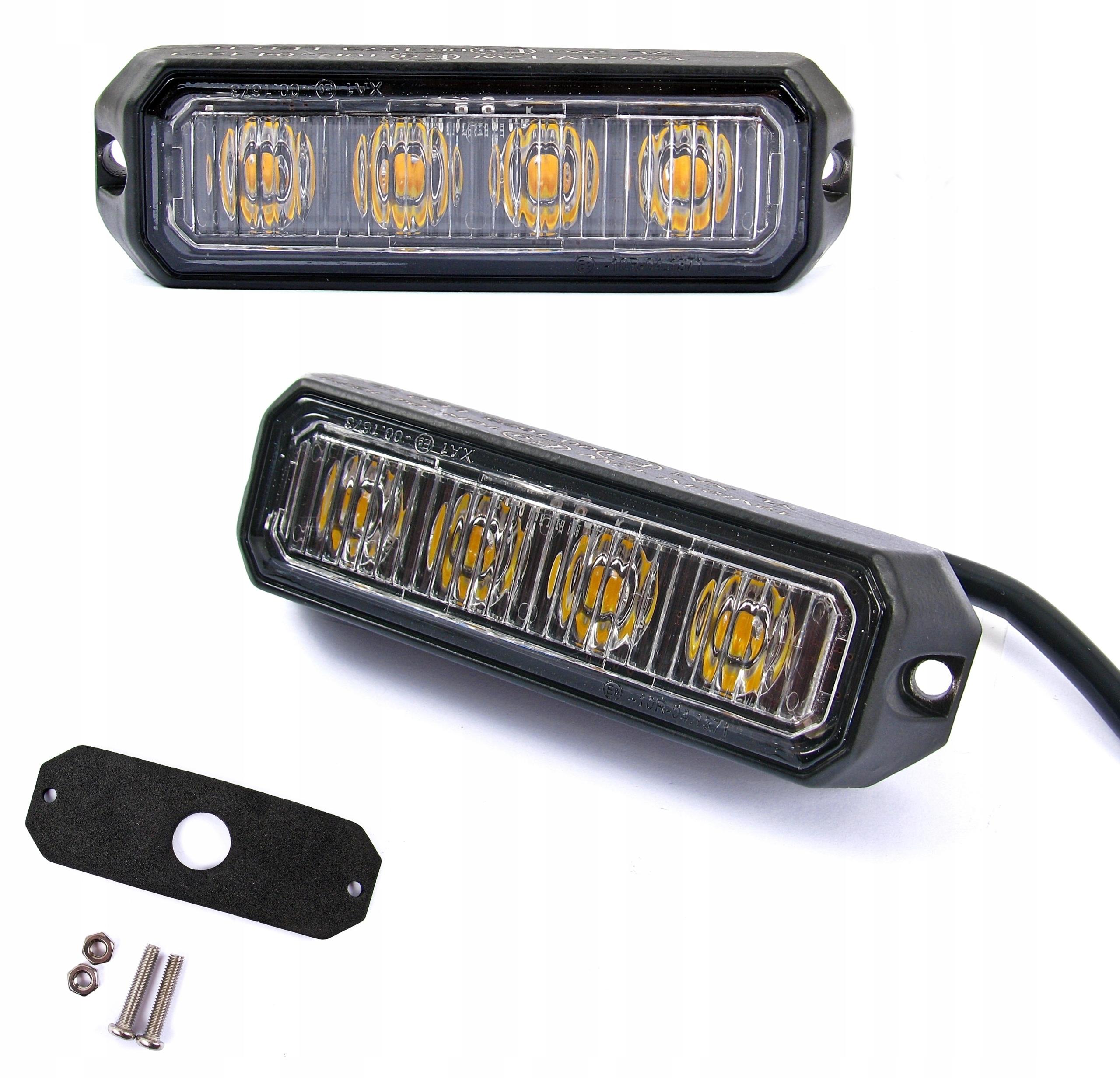 лампа 4 led предупреждения стробоскоп помощь эвакуатор