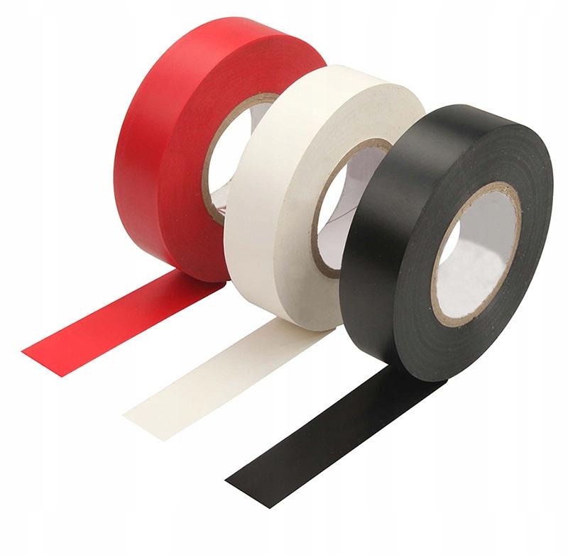 Tolsen лента изоляционная ПВХ 19мм красный 38025