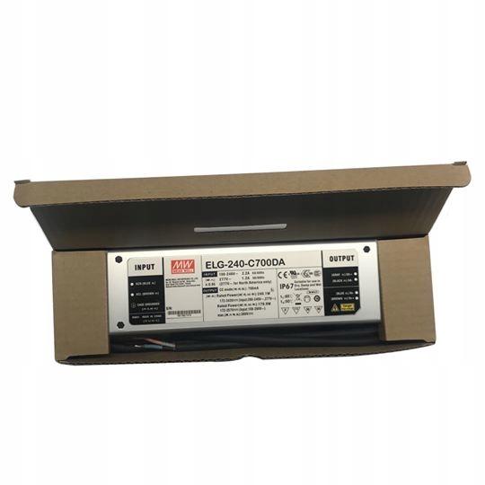 Импульсный источник питания Mean Well ELG-240-C700DA IP67