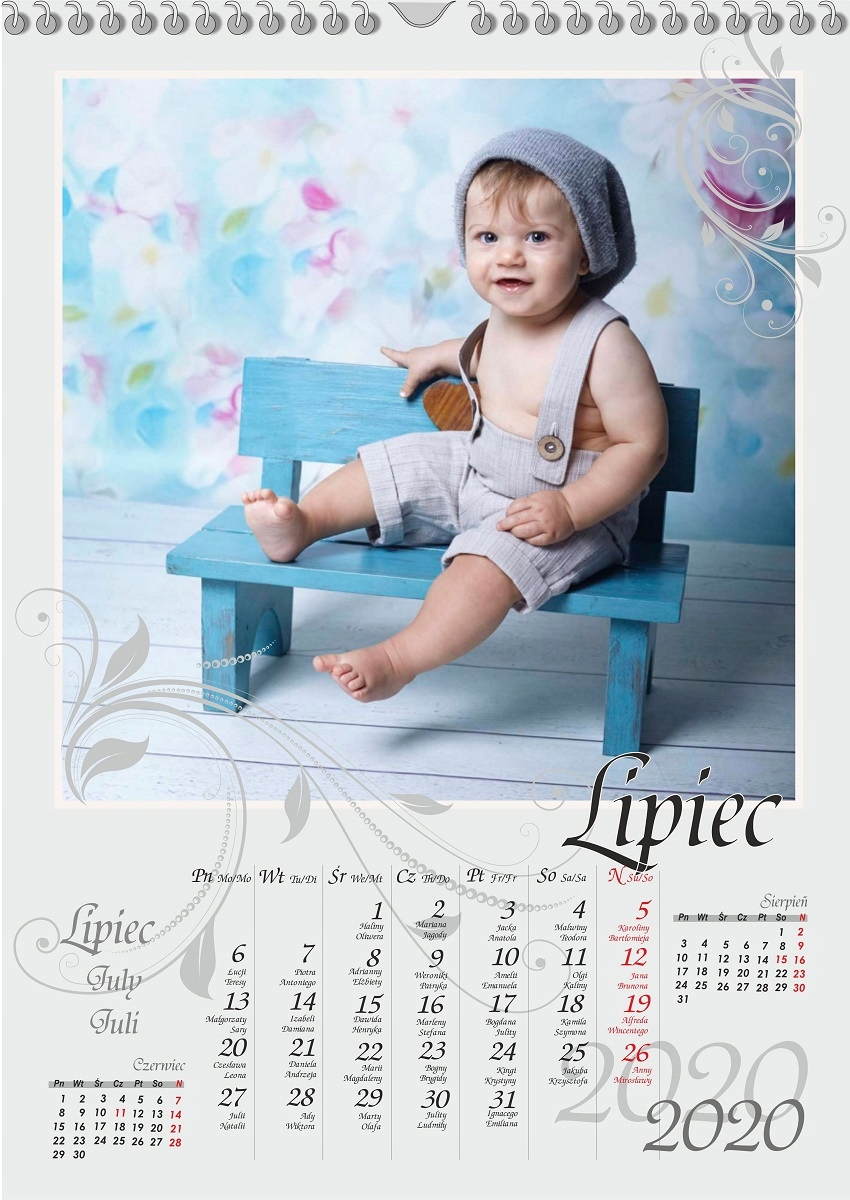 Foto Kalendarz z Twoimi Zdjęciami A3 na Dzień Babc