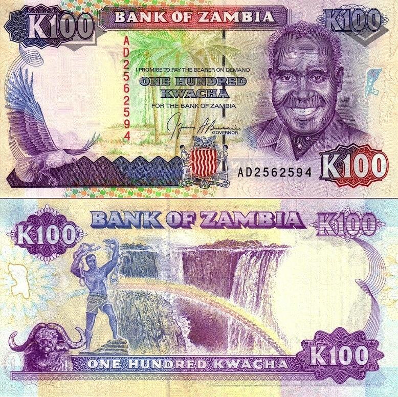 # ZAMBIA - 100 KWACHA - 1991 - P34 - UNC