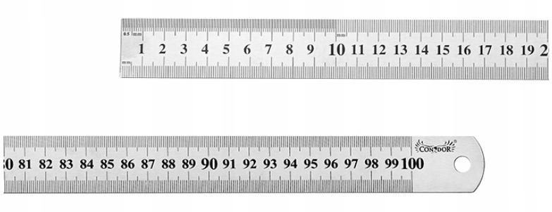 PRZYMIAR LINIOWY 1000 mm LINIAŁ LINIJKA STALOWY