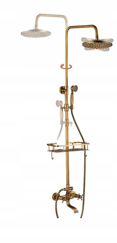 Súprava pre sprchový Starožitné RETRO deszczownica