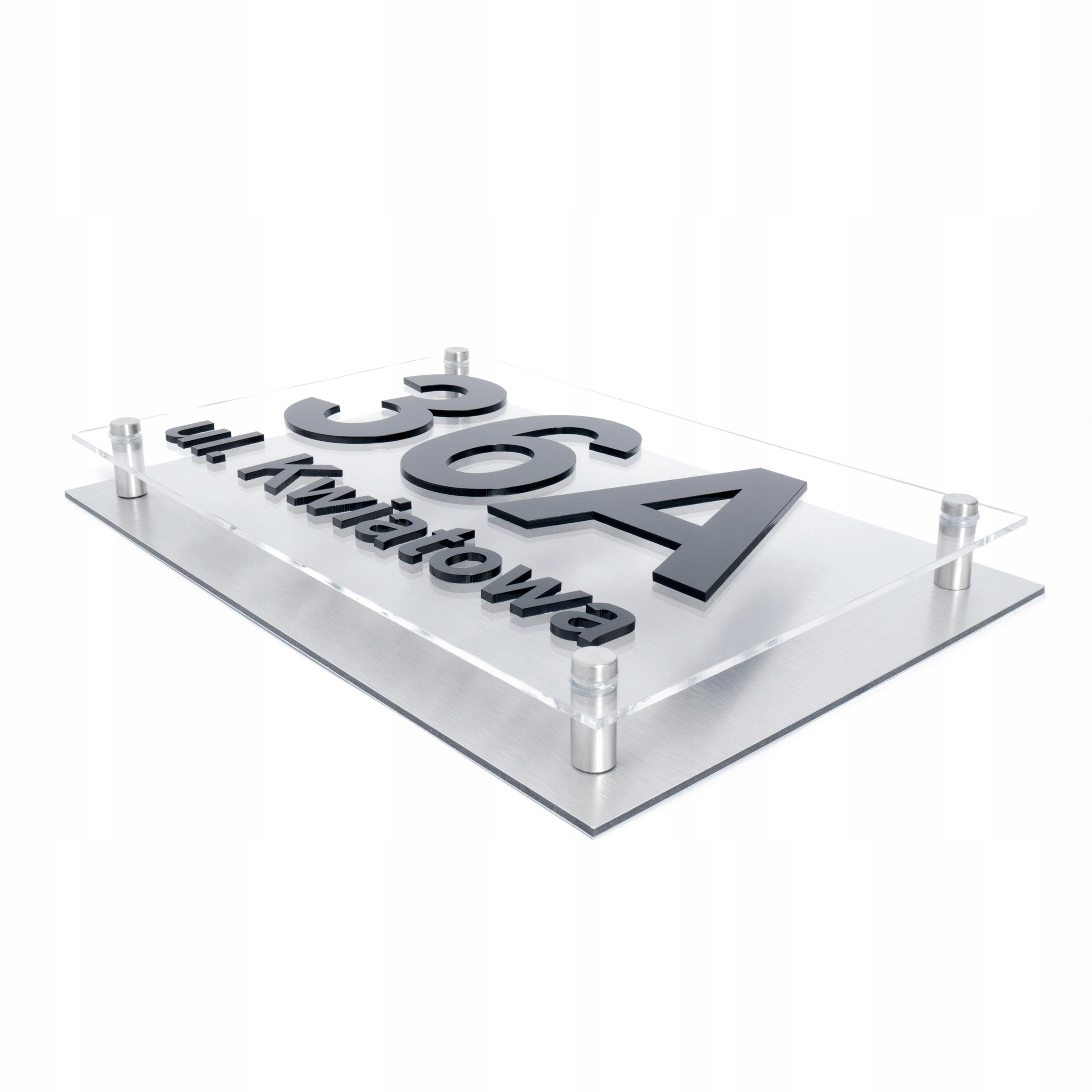 Tabliczka adresowa Tablica dom NUMER 3D Aluminium