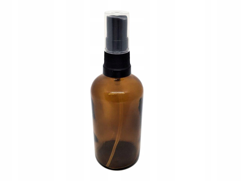 Item GLASS BOTTLE 100 ml WITH ATOMIZER BLACK x 1pc