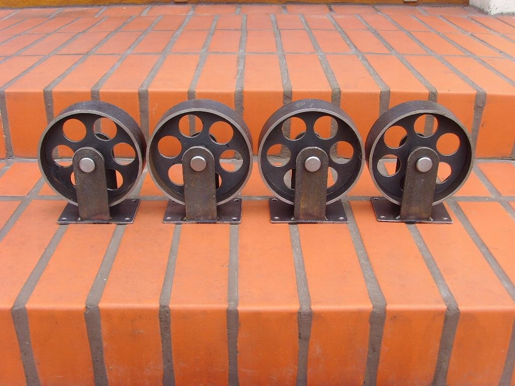 Kovové kolieska na nábytok LOFT PRIEMYSELNÉ RETRO kovov