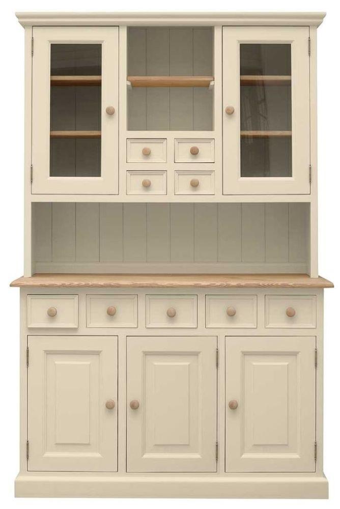 100% drevený vidiecky príborník, vitrína - retro 8