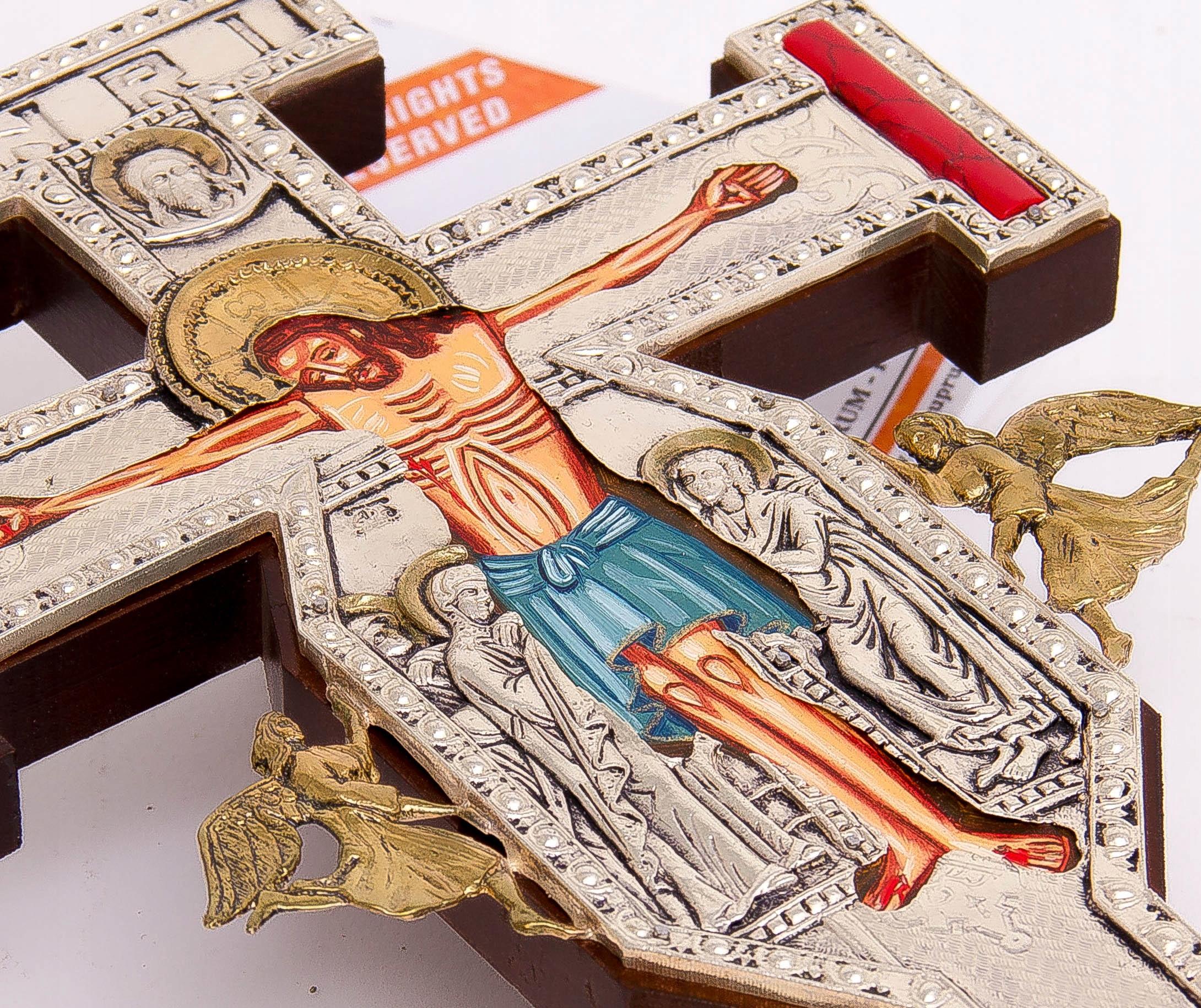 Krucyfiks gotycki KAMIENIE JUBILERSKIE nr 125P Waga produktu z opakowaniem jednostkowym 1 kg