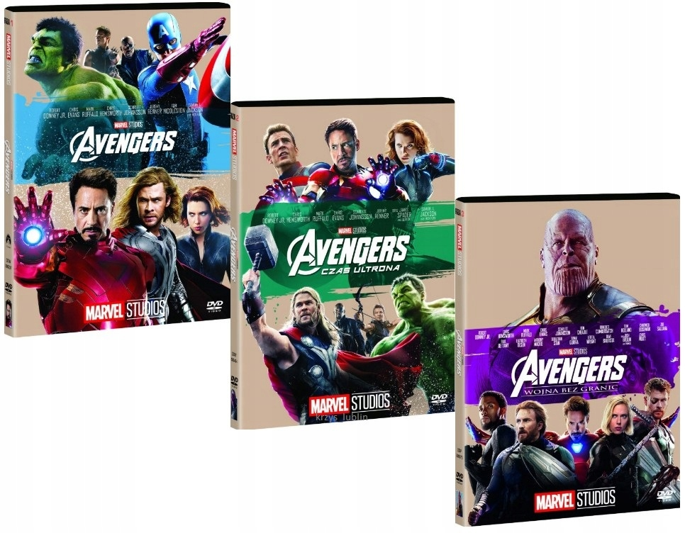 Item THE AVENGERS TRILOGY [3 DVD] COLLECTION MARVEL