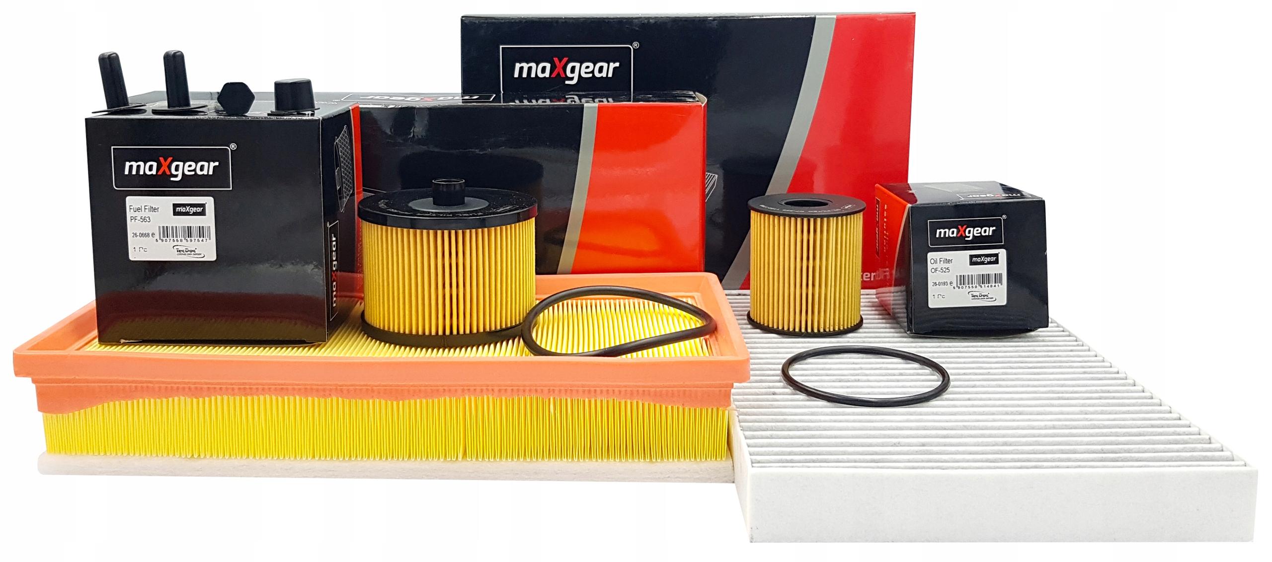 citroen c5 iii 20 hdi комплект фильтры maxgear