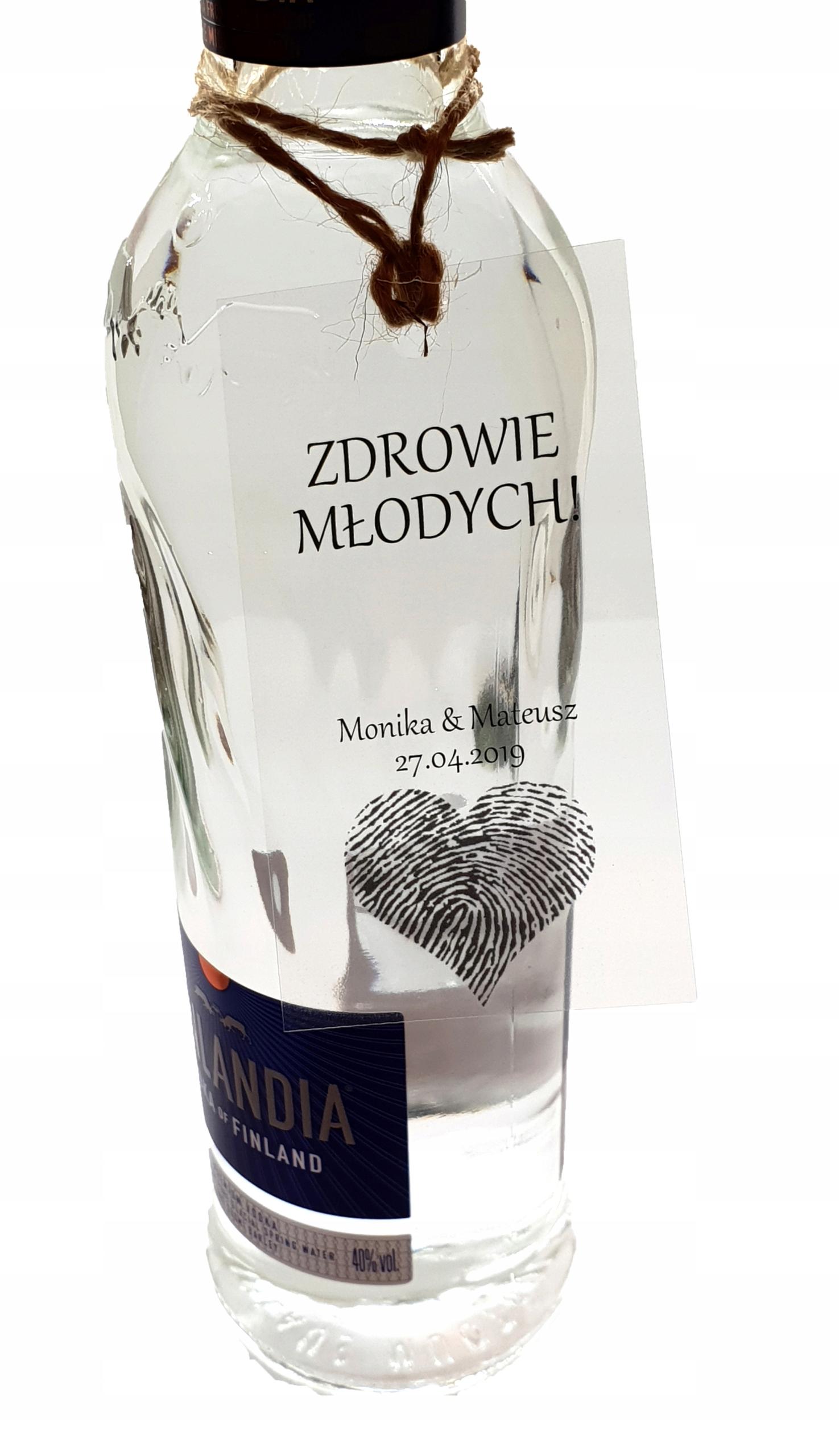 Zestaw 24 zawieszek na butelki alkohol wesele
