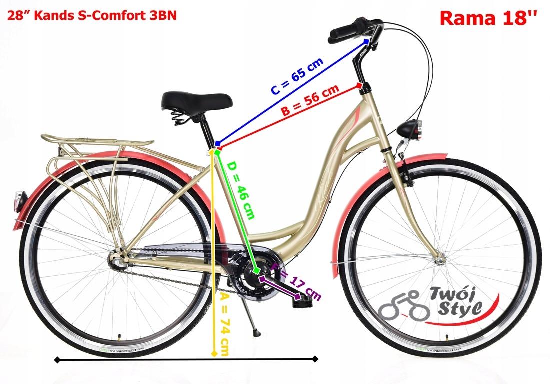 Polski Rower 28' LAGUNA SCOMFORT 3-B MIĘTOWY 2020 Kolor inny