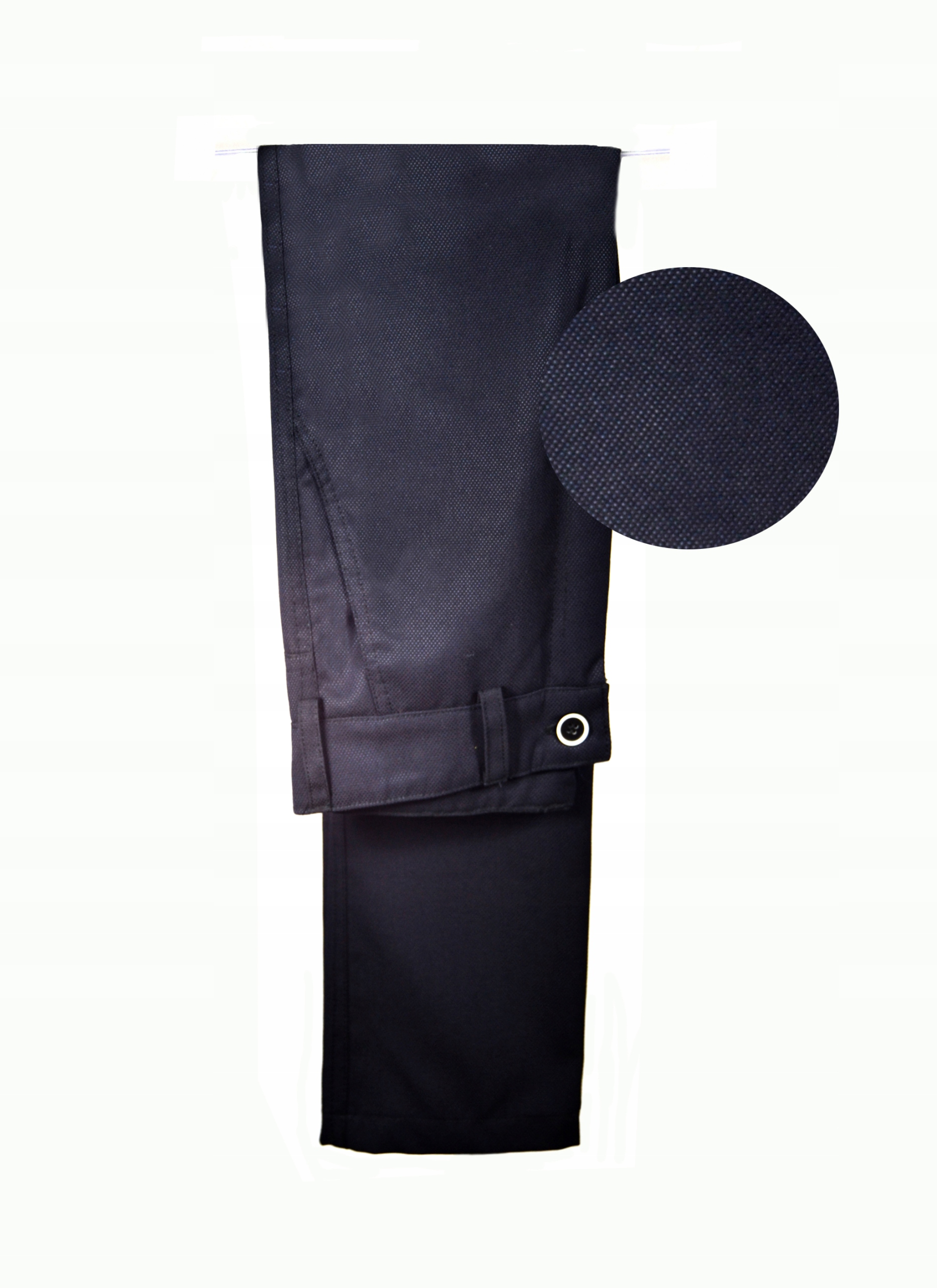 Elegantné nohavice, BEZ KANTU, tmavo modrá SLIM 128