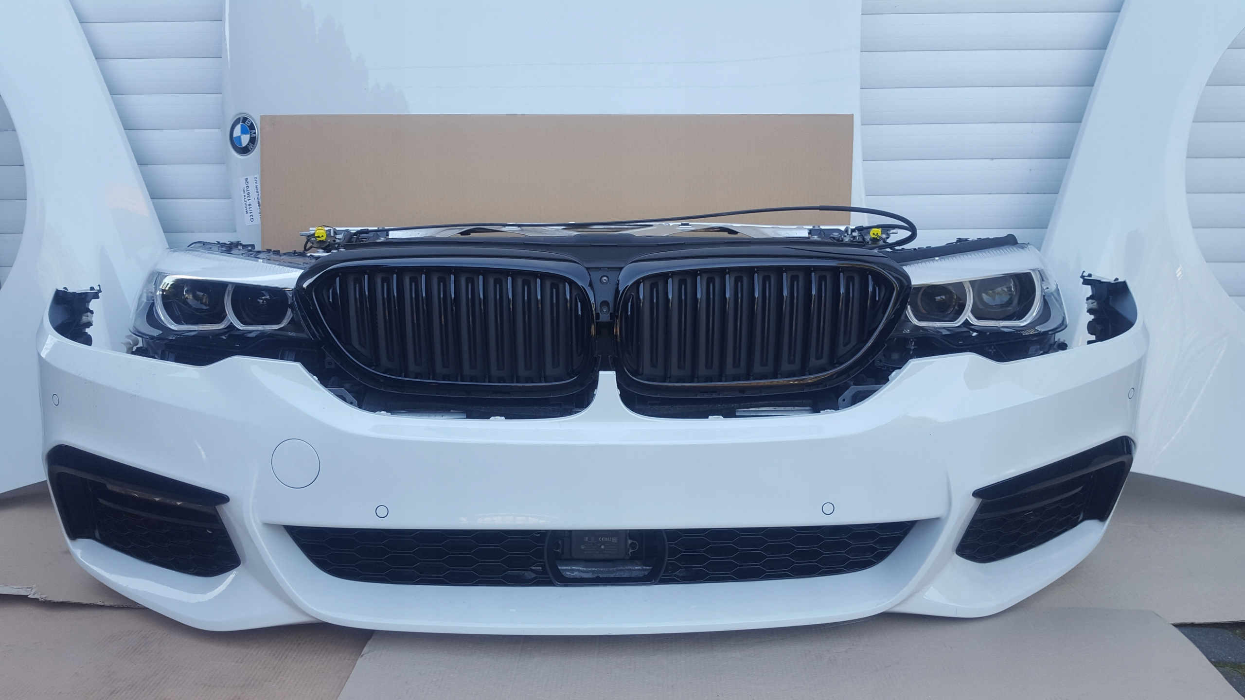 маска крыло led бампер bmw g30 a300 m пакет