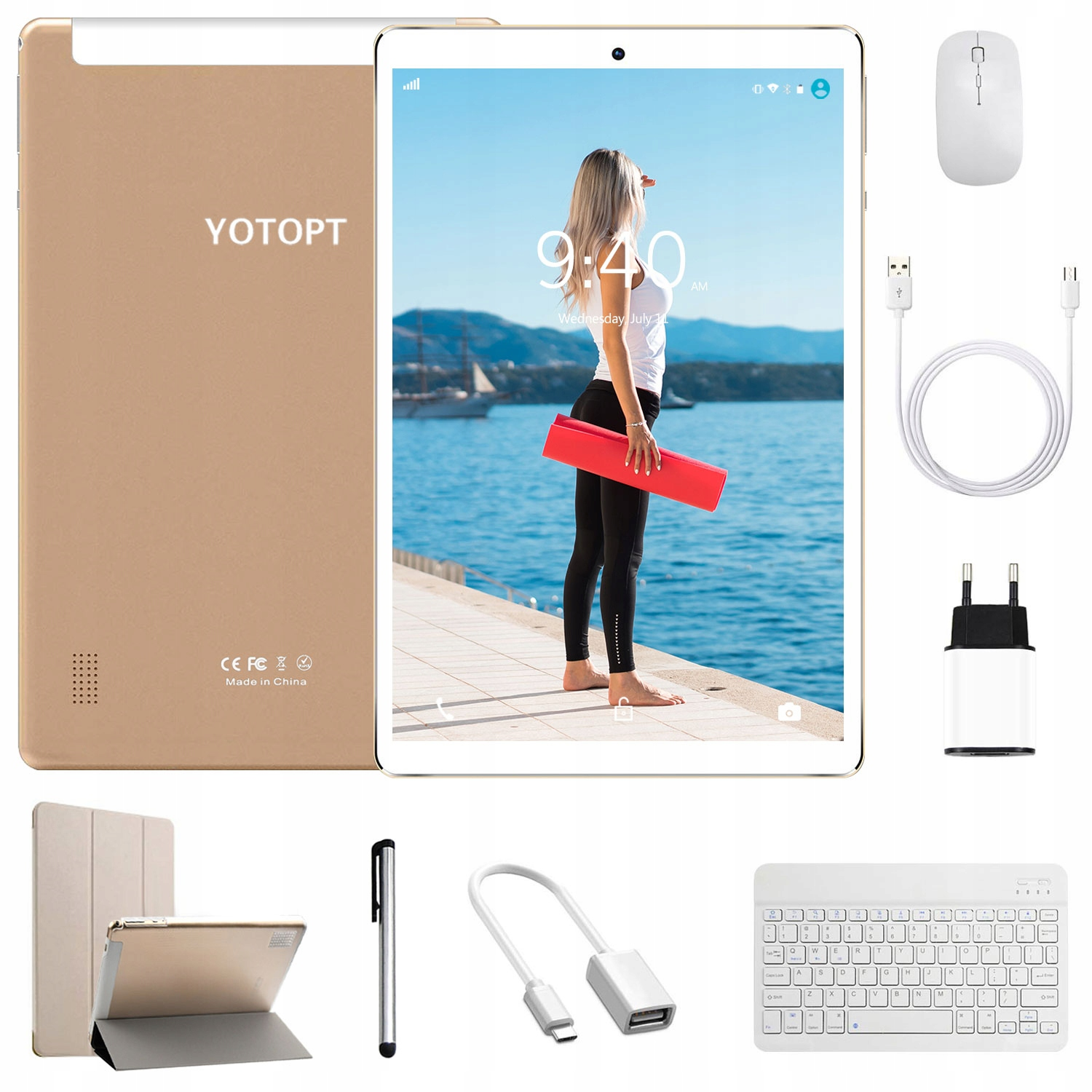 YOTOPT 10 cali tablet 3G/WiFi 2GB 32GB android 9.0 Marka YOTOPT