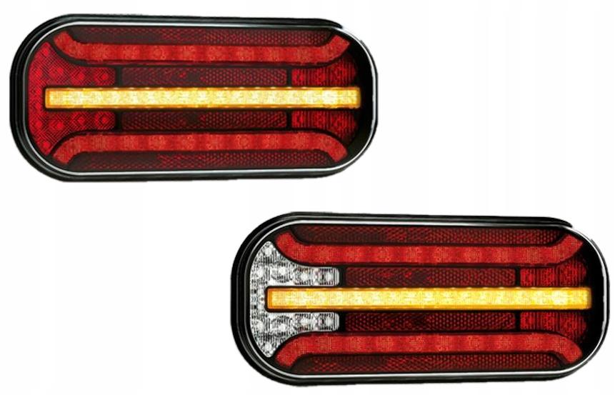 лампы задние led прицеп прицеп bus компл l+p