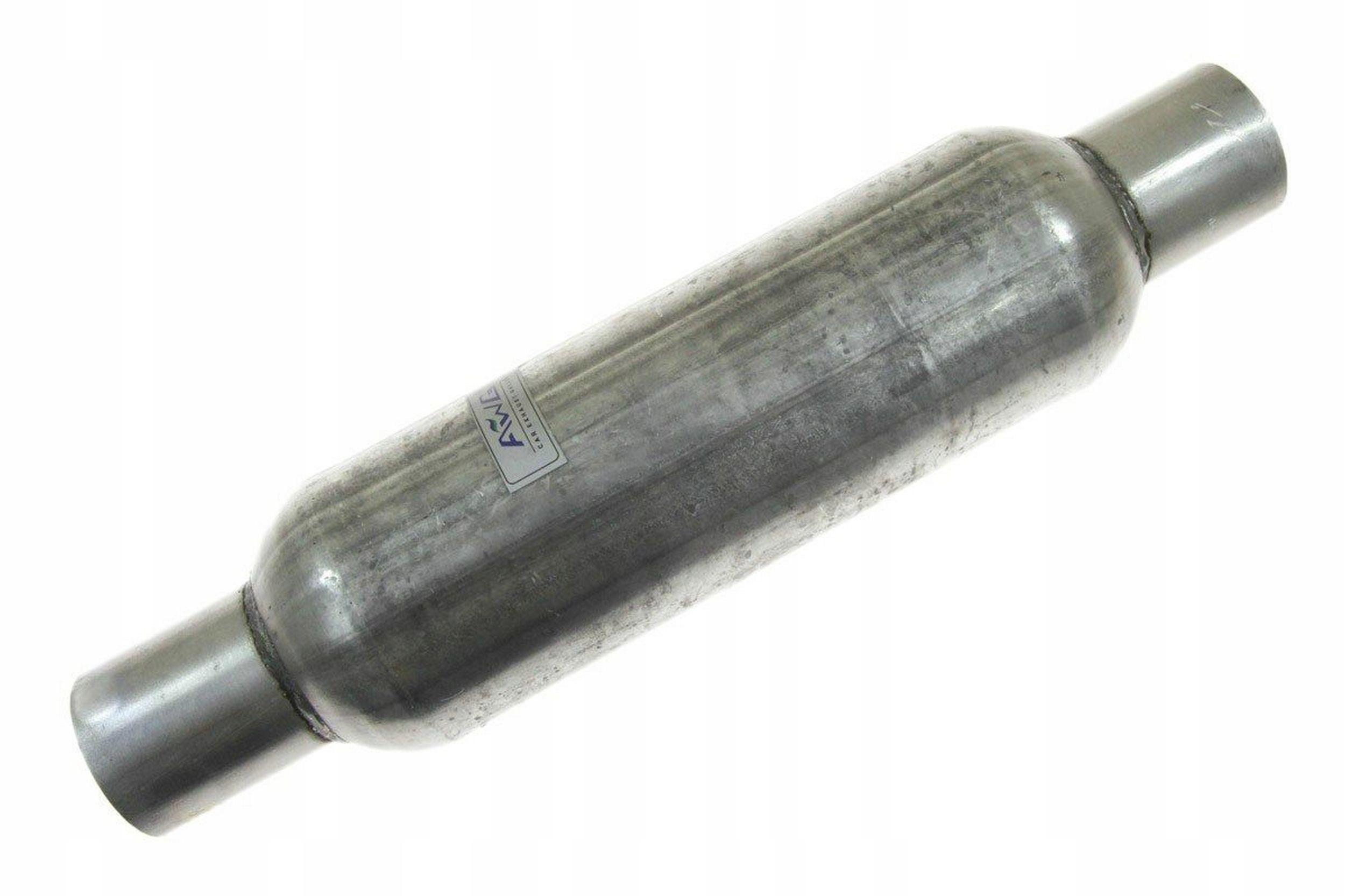 глушитель Средний fi 65mm спортивный сквозное awg
