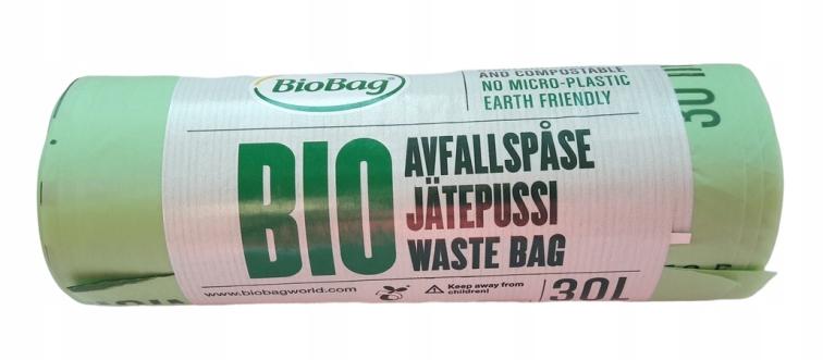 BioBag Worki BIODEGRADOWALNE kompostowalne 30l x20