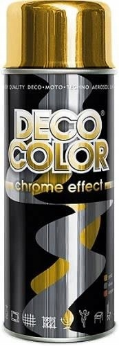 DECO COLOR спрей-Краска с эффектом хрома золотой