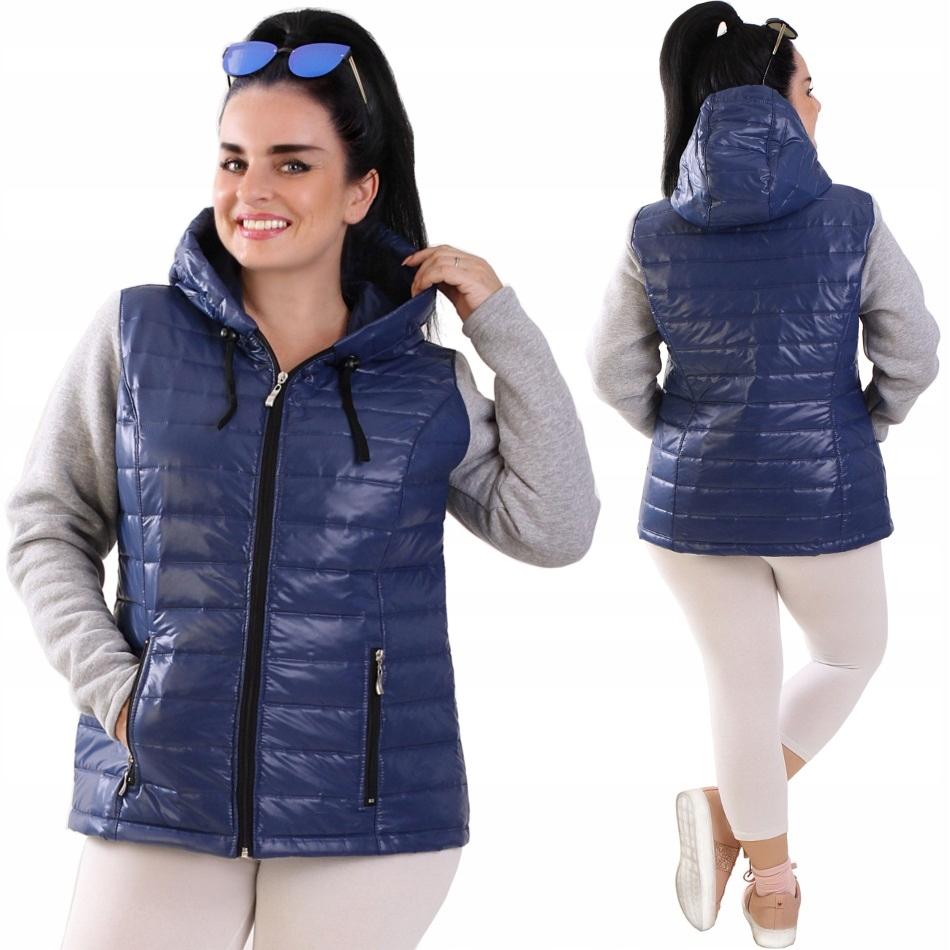 K01 Niebieska kurtka przejściowa pikowana R42