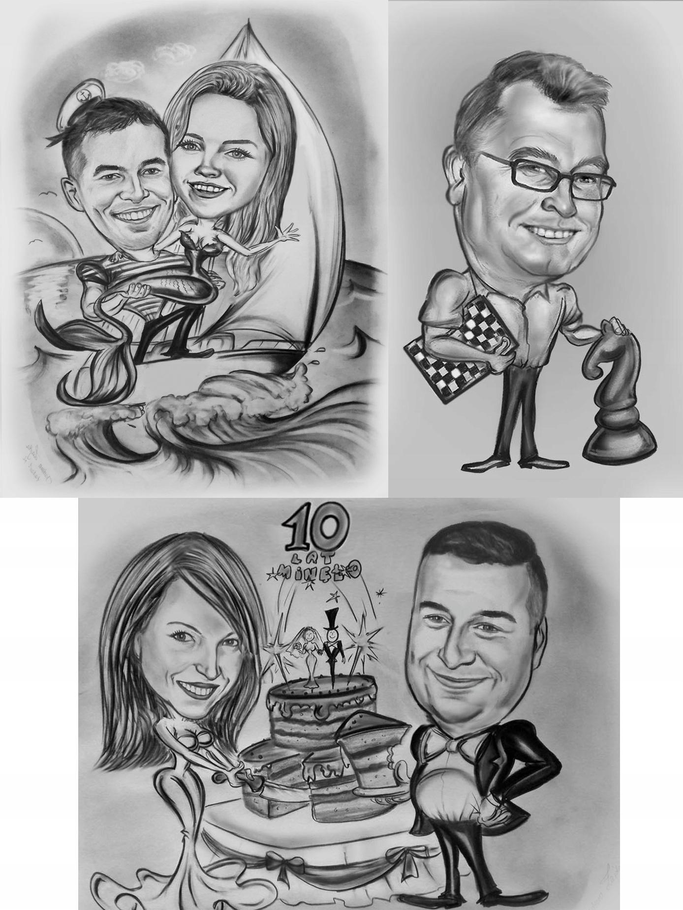 КАРИКАТУРА подарок на 10 25 лет со дня свадьбы родителей
