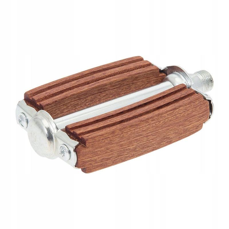 Pedál retro kolarzówka dreva 9/16 mahagón