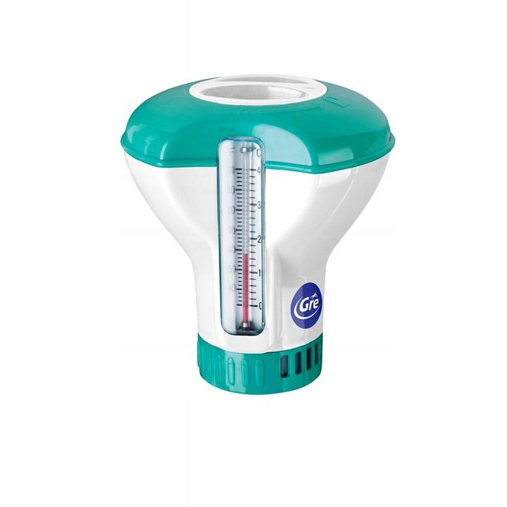 Дозатор для хлора с термометром для бассейна планшеты