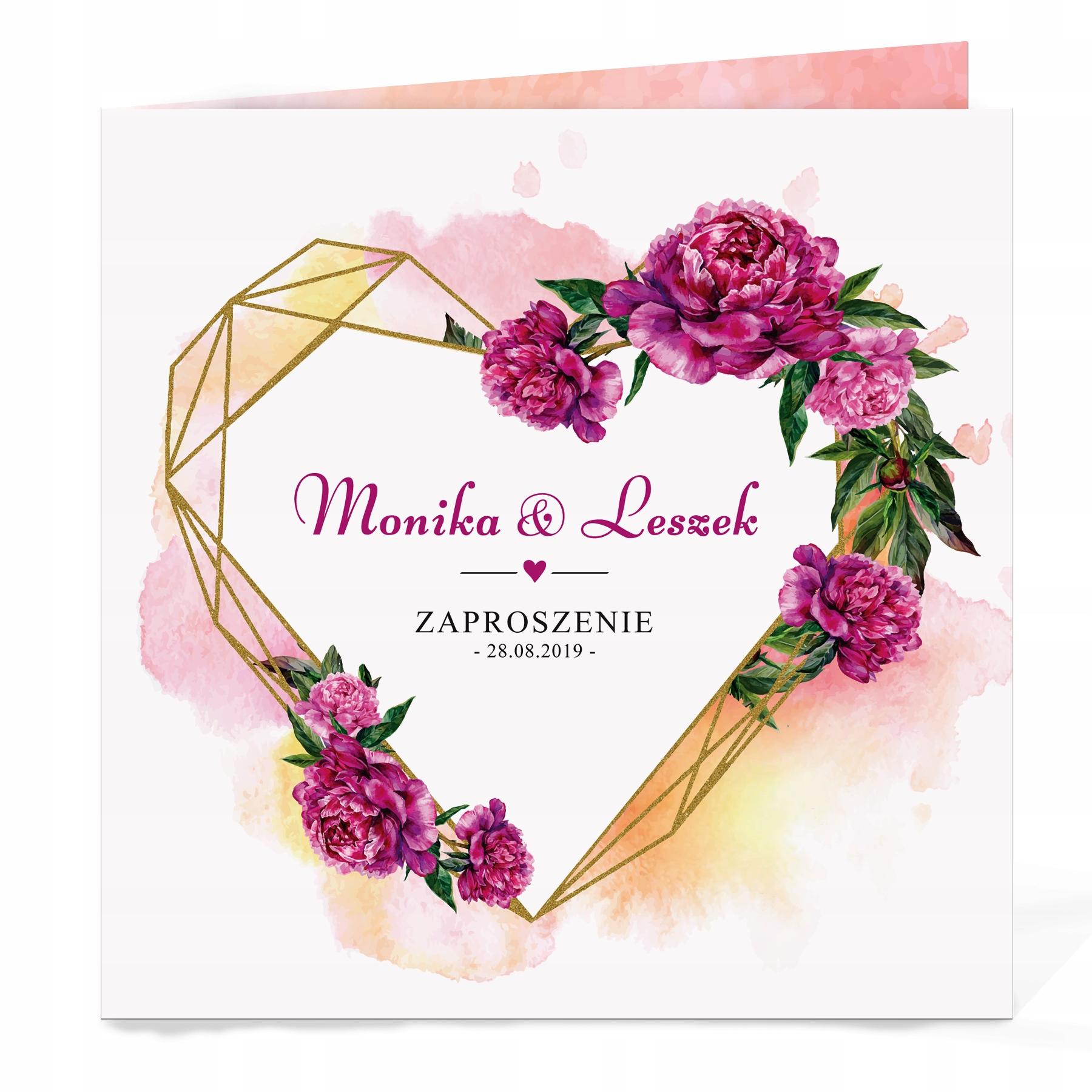 Zaproszenia Ślubne Rustykalne Boho Kwiaty i Koperta