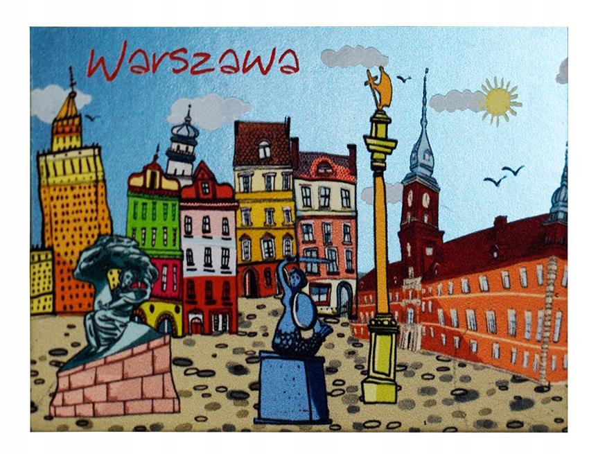 Warszawa Magnes Metalizowany Pamiatka 8615910764 Allegro Pl