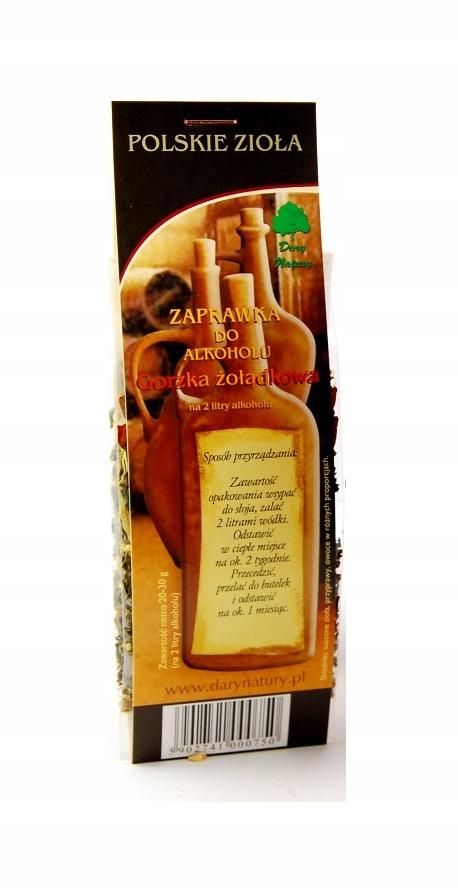 ZAPRAWKA do alkoholu GORZKA ŻOŁĄDKOWA zioła BIMBER